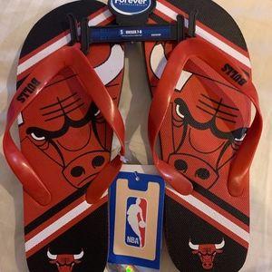 Chicago Bulls NBA Licensed Flip Flops NWT Unisex
